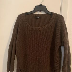 Express army green sweater